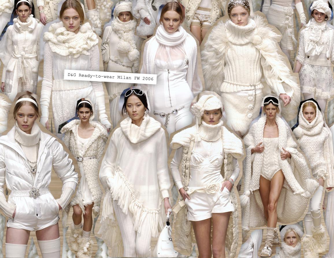 Catwalk winter inspiration: D&G Ready-to-wear Milan FW 2006
